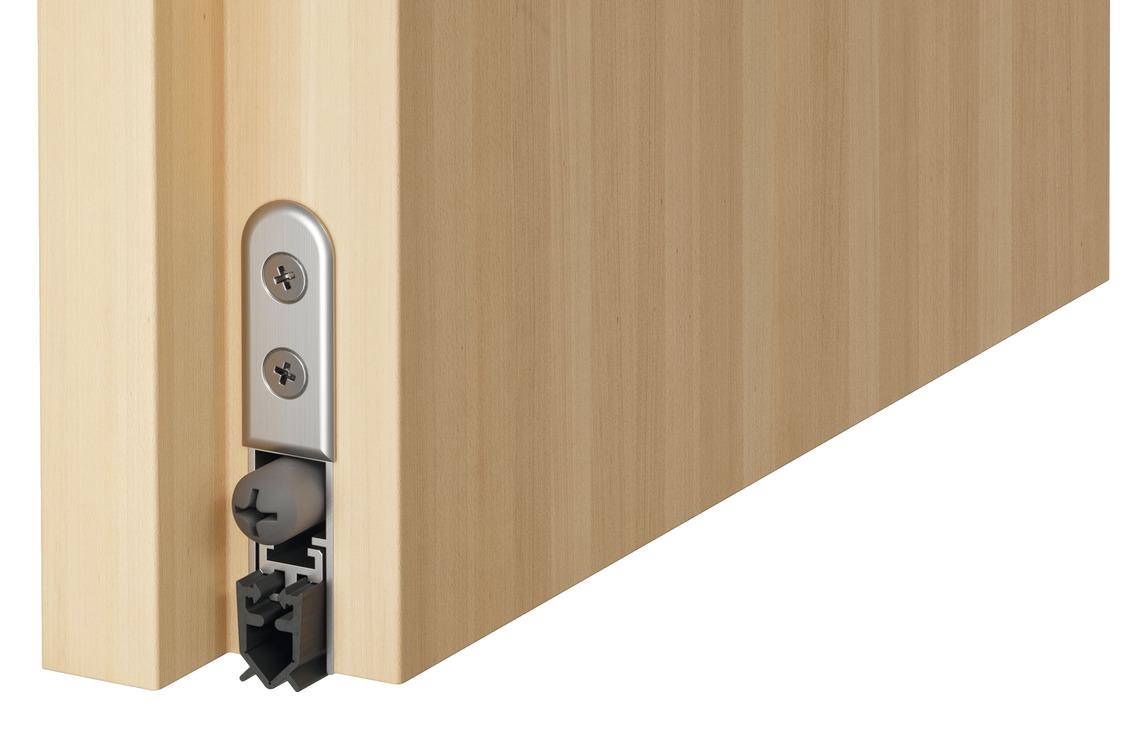 single-side release  sc 1 st  Hafele & Retractable door seal DDS 12 for wooden doors Startec - in the ...