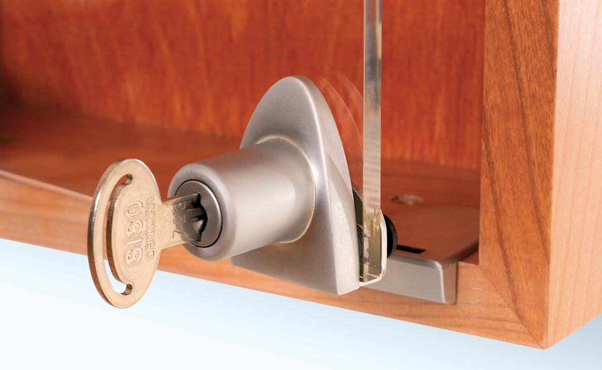 Single Door Lock, for Glass Door - in the Häfele America Shop