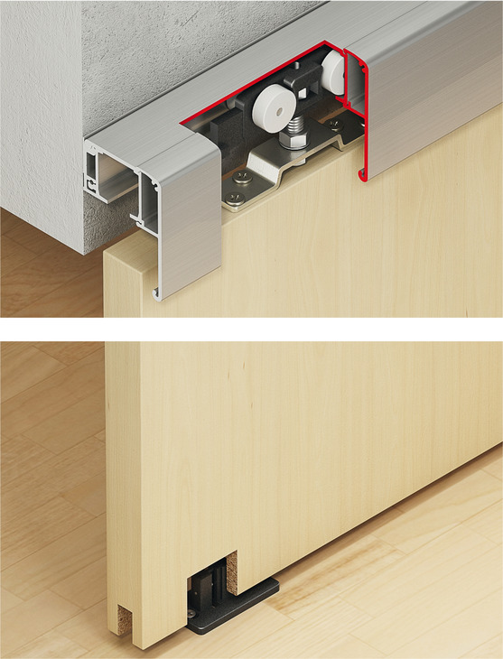 Sliding Door Fitting With Soft Close Double Mechanism