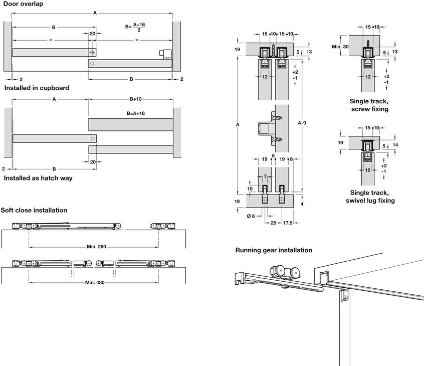pocket door design dimensions sliding door hardware eku clipo 16 hm inslide set in the