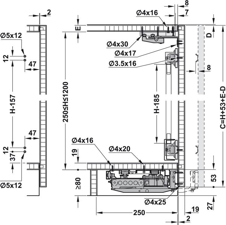 pocket door design dimensions sliding door hardware eku frontino 20 set in the hfele