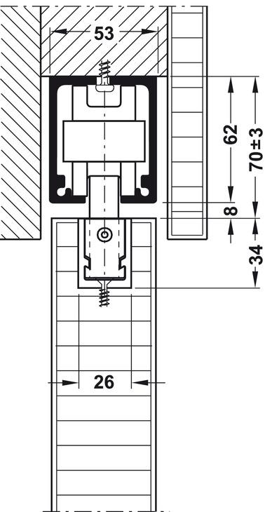 Sliding Door Hardware Hawa Junior 160 B Set In The