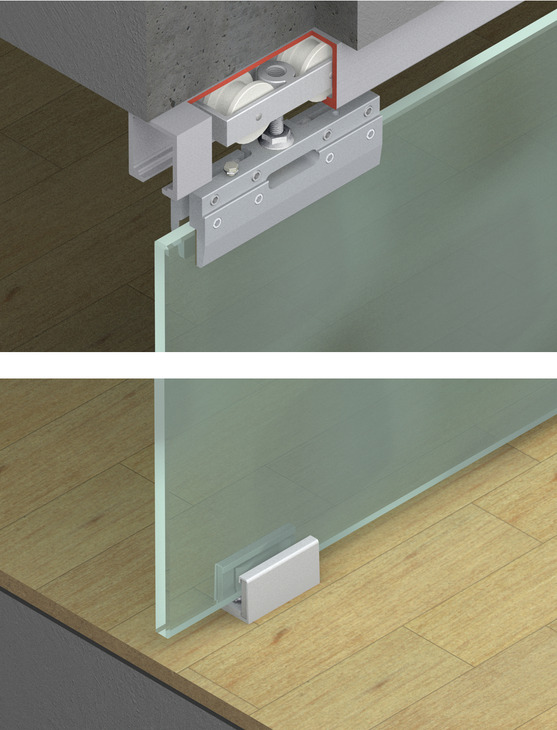 sliding door hardware hawa junior 80 gs set in the h fele america shop. Black Bedroom Furniture Sets. Home Design Ideas