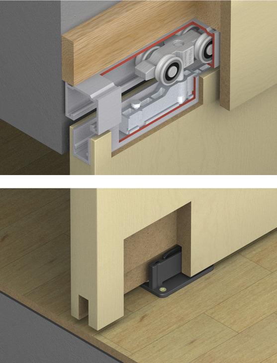 Sliding Door Hardware Hawa Silenta 150 B Set In The