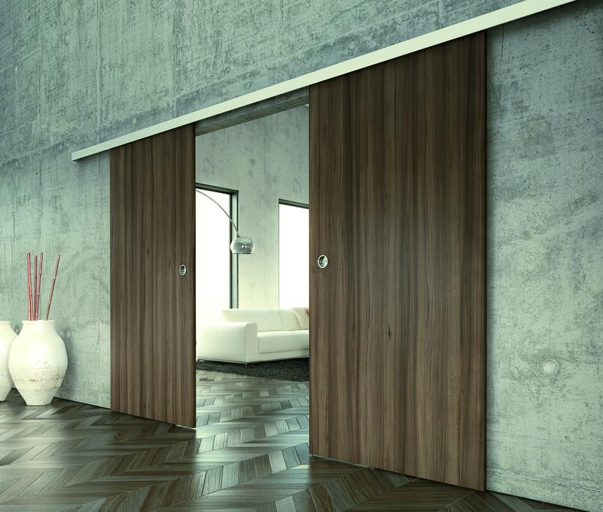 sliding door hardware slido classic 80 o set in the h fele america shop. Black Bedroom Furniture Sets. Home Design Ideas