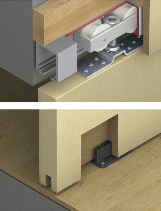 Sliding Door Hardware, Top Hung System