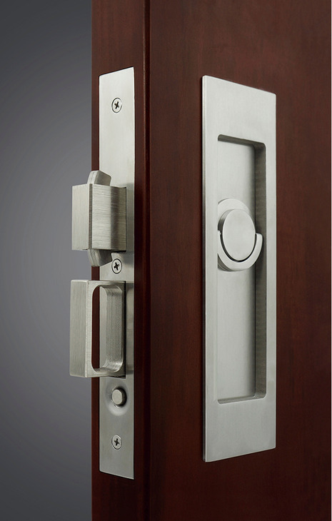Sliding Pocket Door Lock With Deadbolt For Active Door