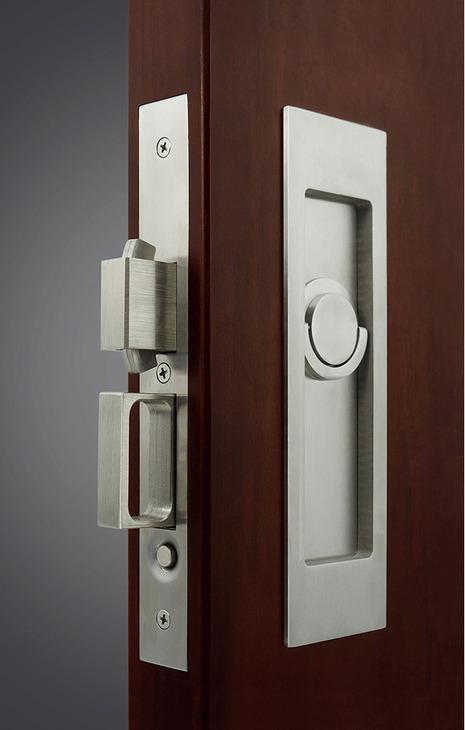 Sliding Pocket Door Lock With Edge Pull For Inactive Door