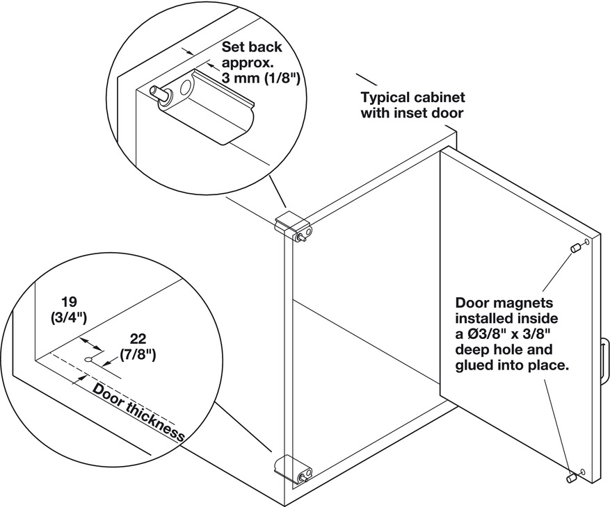 Soft Close Magnetic Catch For Single Doors