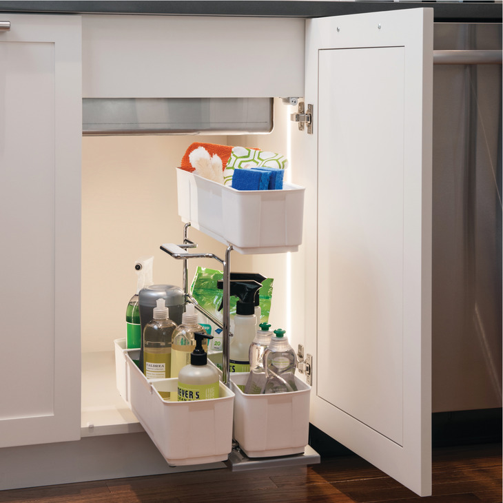 Kitchen Cabinet Cleaning Service: Storage Unit Pull-Out, Cleaning Caddy