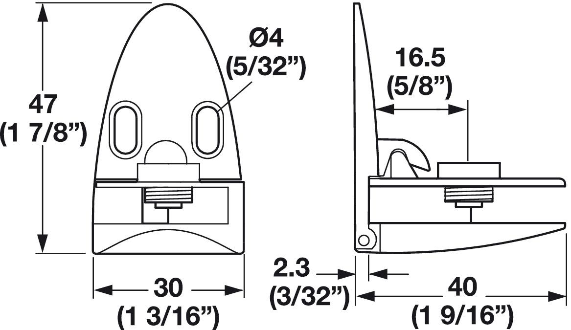 Top And Bottom Door Hinge For Inset Glass Door In The