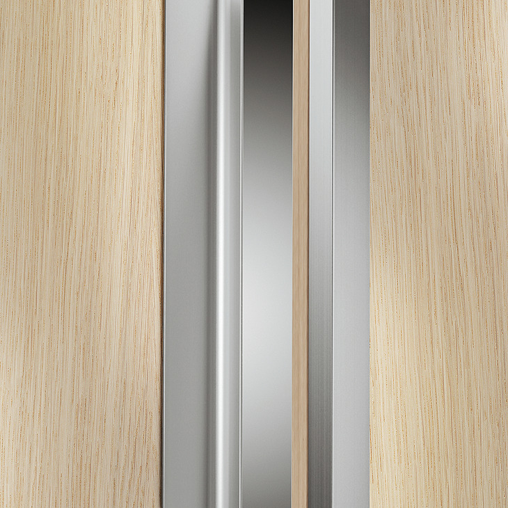 Vertical End Profile Aluminum 2500 Mm Length In The