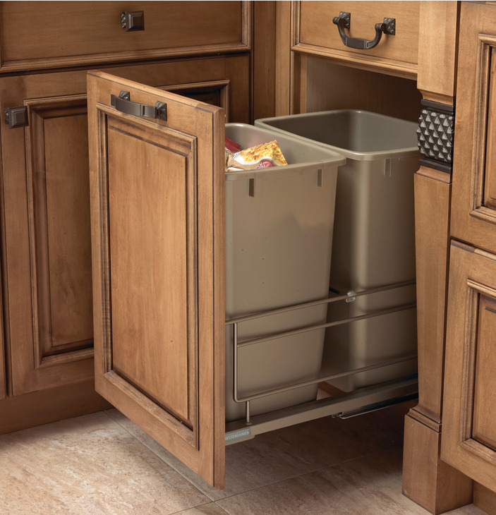 Black Kitchen Bin Sale: Waste Bin Pull-Out, Kesseböhmer Double Bottom Mount