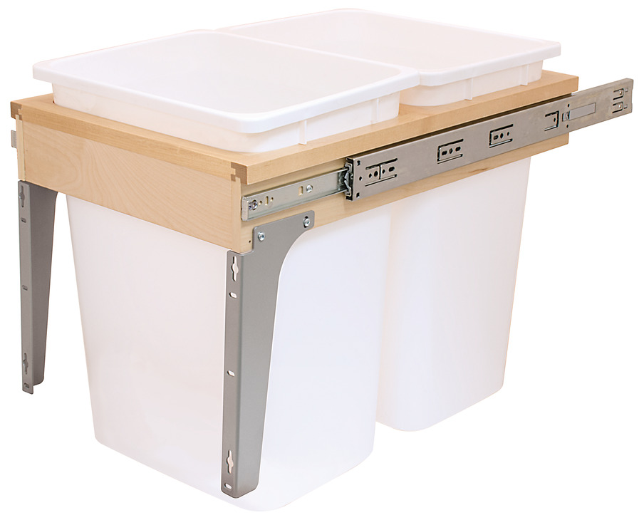 Waste Bin Pull-Out Wood Frame Side Mount Double  sc 1 st  Hafele & Waste Bin Pull-Out Wood Frame Side Mount Double - in the Häfele ... islam-shia.org