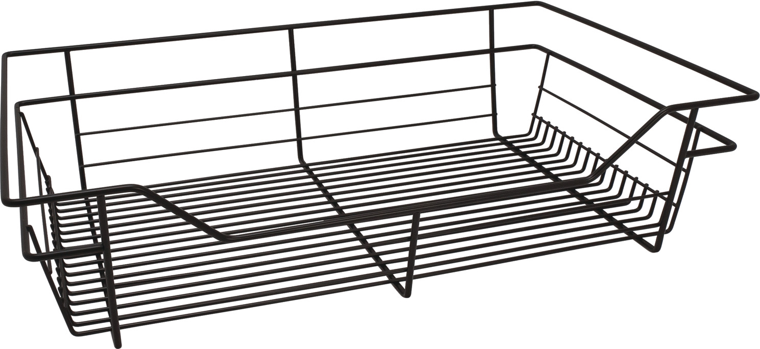 wire closet basket  with full extension slides