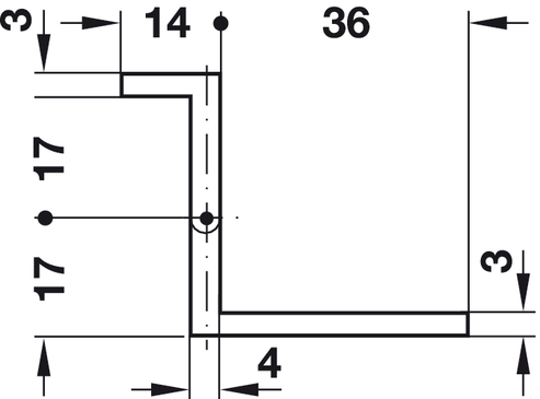 For door thickness 15u201316 mm side panel thickness min. 14 mm  sc 1 st  Hafele & Cranked Butt Hinge Neuform for Door Thickness 15-16 mm - in the ... pezcame.com