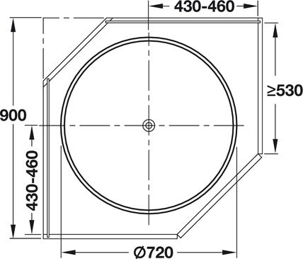Plot - HAFELE Full Circle Carousel Shelf, Corner Cabinet